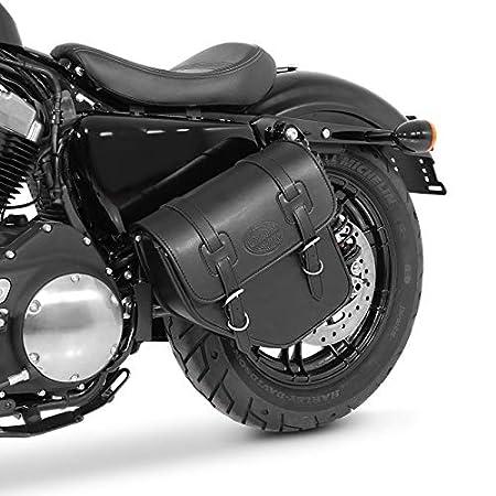 125 C schwarz rechts Satteltasche 3L f/ür Honda Shadow VT 750//600