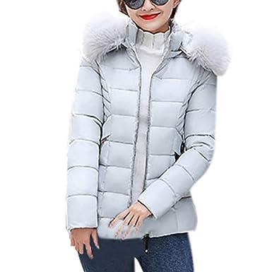 b23629851495 ☺Wintermantel Daunenjacke Damen Kurze Übergangs Jacke Premium Outwear  Frauen Daunenmantel mit Kapuze Pelzkragen Steppjacke Leichte Mantel  Oberbekleidung ...