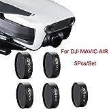 Inverlee For DJI Mavic Air Drone ND4 ND8 ND16 CPL UV Waterproof Camera Lens Filters (Black)