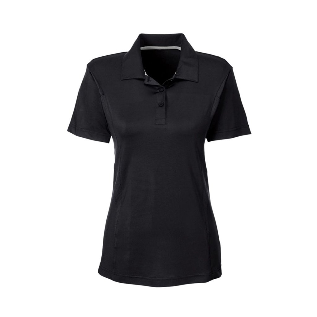 Ash City Apparel Team 365 Ladies Charger Performance Polo (X-Small, Black)