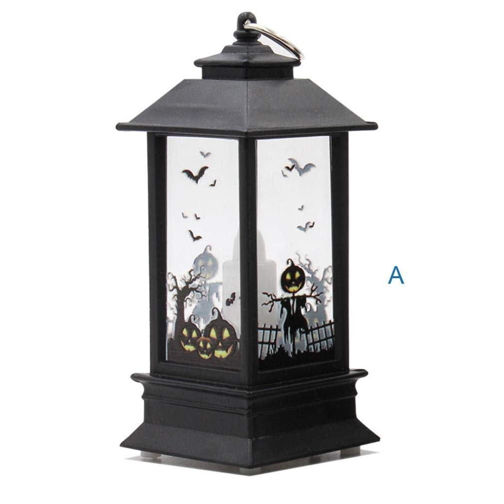 Halloween Lantern, KEERADS Ghost Bat LED Light Lamp, Ideal for Christmas, Halloween, Home and Garden Outdoor Decorative (A) KEERADS-Halloween