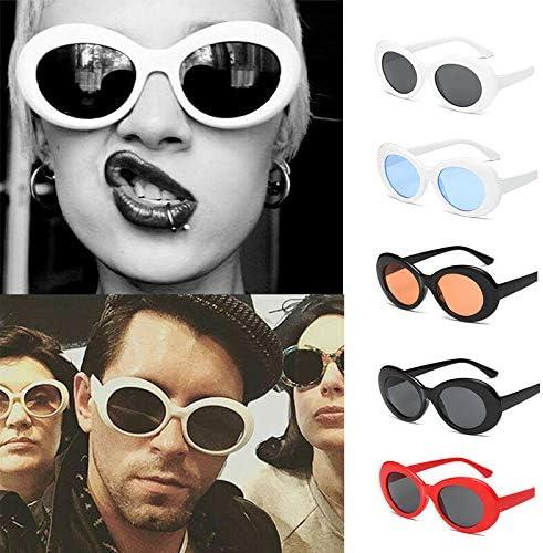 Amazon Com Barhunkft Tm Clout Goggles Sunglasses Kurt Cobain Oval Shades Grunge Unisex Goggles Uv400 New Random Color Home Kitchen