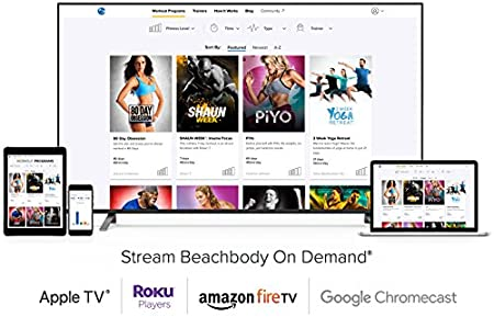 Beachbody on Demand 6 month Membership – Stream over 700 workouts including 80 Day Obsession, P90X, 3 Week Yoga Retreat, 21 Day Fix, INSANITY, PiYo and more