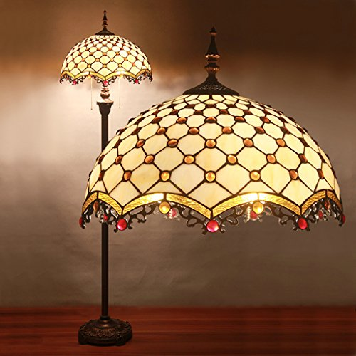 16 Inch Tiffany Lamps Living Room European-Style Minimalist Art Of Handmade Staircase Lighting Study Bedroom Lamp Floor Lamp Creative Wedding