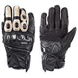 QARYYQ Gloves All Refer to Anti-Fall Summer Men and Women Locomotive Off-Road Racing Riding Carbon Fiber Gloves Gloves (Color : Gold, Size : M)