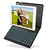 iPad 5th Generation New iPad 2017 9.7-inch(a1822 - a1823) iPad Air keyboard case - Kiwetaso Ultra Thin Aluminium +ABS 7 Colors Backlit Smart Cover Case with keyboard for (iPad Air - Apple iPad 9.7)Black