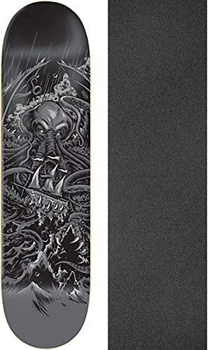 "Zero Skateboards James Brockman Cthulhu Retirement Skateboard Deck - 8.25"" x 31.9"" with Jessup Black Griptape - Bundle of 2 Items"
