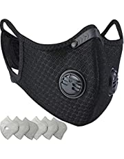 BASE CAMP Dust/Pollution Mask - Activated Carbon Dustproof Mask with Adjustable HOOK&LOOP Strap and N99 Filters | Neoprene Air Pollution Mask for Allergy Woodworking Running (1Black Mask+3Filter)