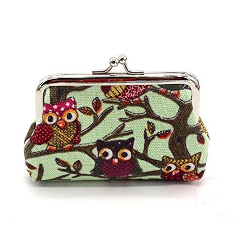 GBSELL Women Owl Purse Small Wallet Clutch Bag (J)