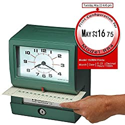 Acroprint 150RR4 Heavy Duty Automatic Time Recorder, prints Month, Date, Hour (0-23) and Hundredths Time Clock