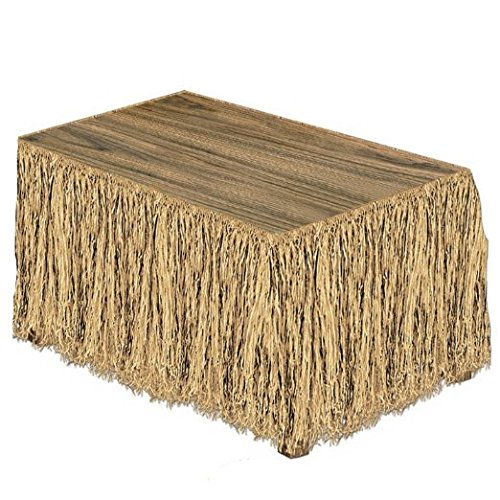 Raffia Table Skirting (natural) Party Accessory  (1 count) (1/Pkg) - Plastic Grass Skirt