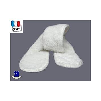Poussin bleu - Echarpe enfant blanche, fausse fourrure Couleur - Blanc afe171e2887