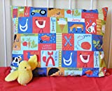 Baby : Toddler Pillowcase by Dreamtown Kids, 100% GOTS Certified Organic Cotton, Envelope Style, Hypoallergenic and Handcrafted with Care in the USA! (Alphabet Farm)