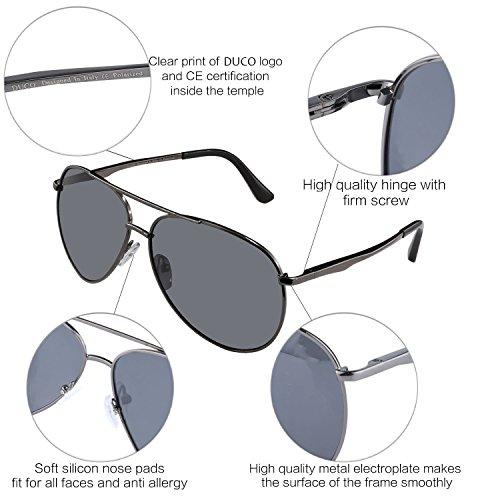 3025G avec aviateur polarisées premium Gunmetal monture Duco protection en Gris hommes métal pour style 100 les UV Lunettes de soleil ntq0tCTAw