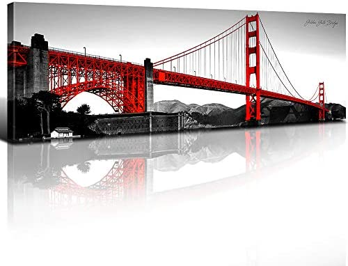 Home Decor Poster Wall Art Golden Gate Bridge Art Print // Canvas Print F