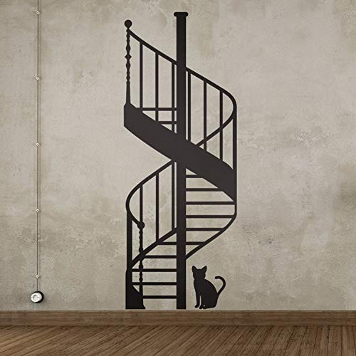 Spiral Staircase DIY Vinyl Wall Stickers Living Room Bedroom Children's Room Home Decorative Mural Art Wallpaper 59X120CM