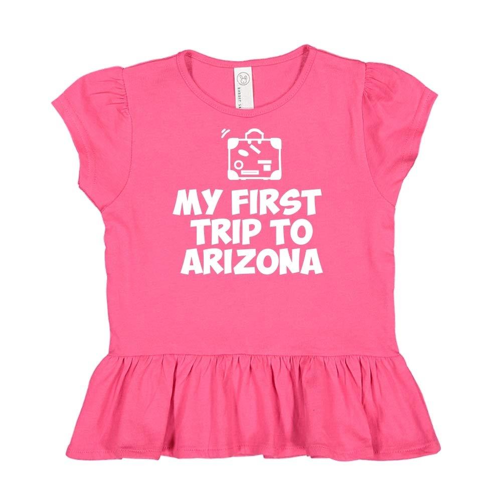 My First Trip to Arizona Toddler//Kids Ruffle T-Shirt
