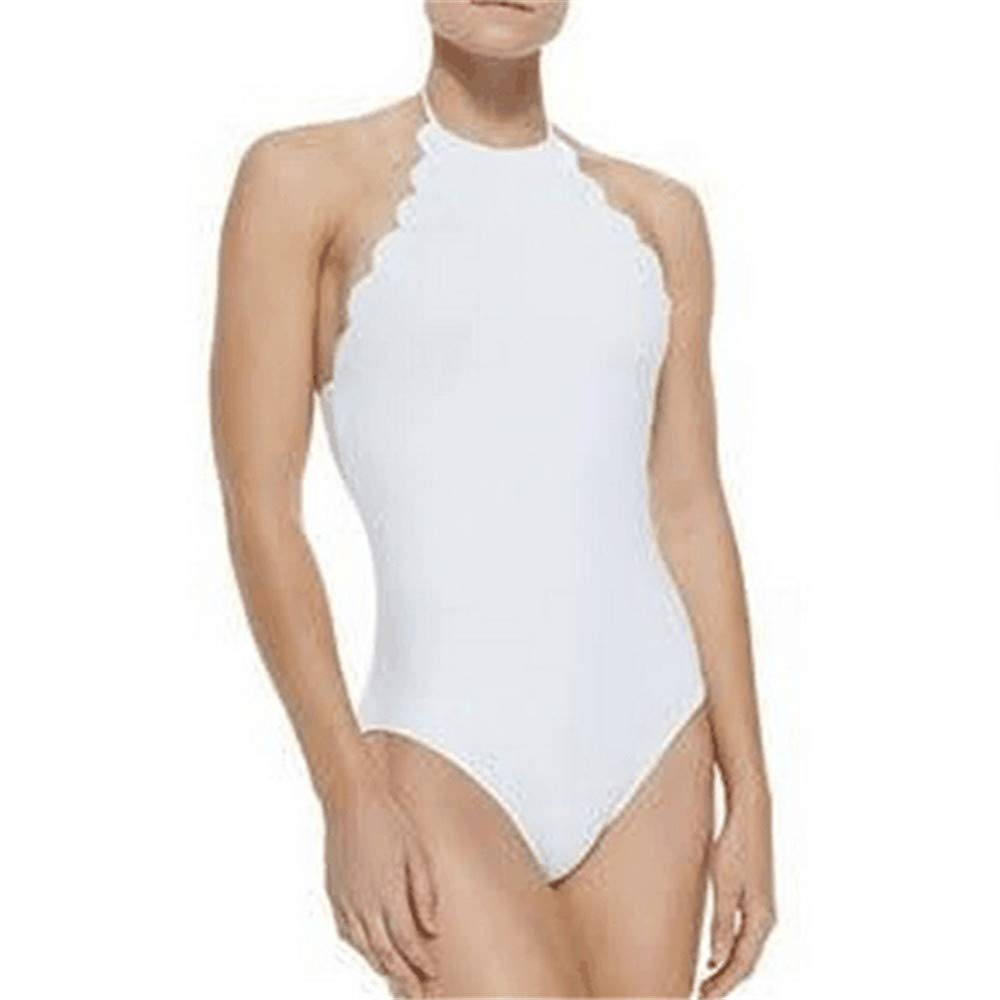 Colorfulhome Swimwear Halter Top Swiming Suit one Piece Swimsuit Solid Women Bathing Suit