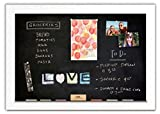 Magnetic Chalkboard with Pearl White Frame