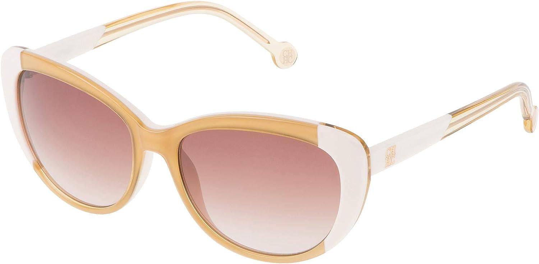 Carolina Herrera SHE648550GA9 Gafas de sol, Marrón, 55 para Mujer: Amazon.es: Ropa y accesorios