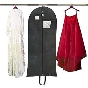 top quality breathable 60 garment bag for dress wedding party dress lightweight. Black Bedroom Furniture Sets. Home Design Ideas
