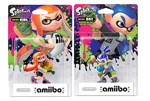 Amiibo Inkling Boy and Inkling Girl Combo Set -