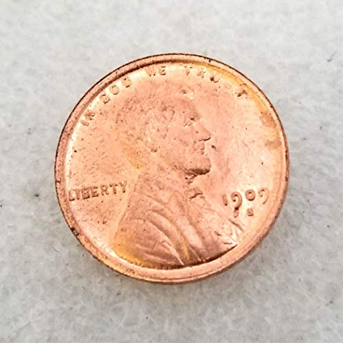 One Cent Us Coins - WuTing 1909 Antique US Liberty One-Cent Coin - Great American Lincoln Commemorative Coins - USA Uncirculated Morgan Dollars-Discover History of US Coins Great American Coin