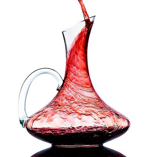 Wine Decanter, PULNDA Wine Carafe Hand-Blown Cr...