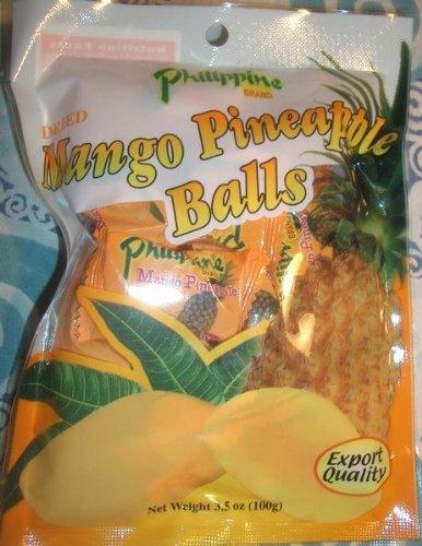 Philippine Mango Pineapple Balls 3.52 oz 100g
