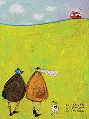Cotton, The Art Group Sam Toft Little Red Caravan On The Hill Canvas Print