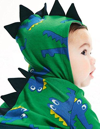 DD-CM Little Boys' Halloween Costume Crocodile Printed Fleece Hoodies Jacket (Toddler Crocodile Costume)