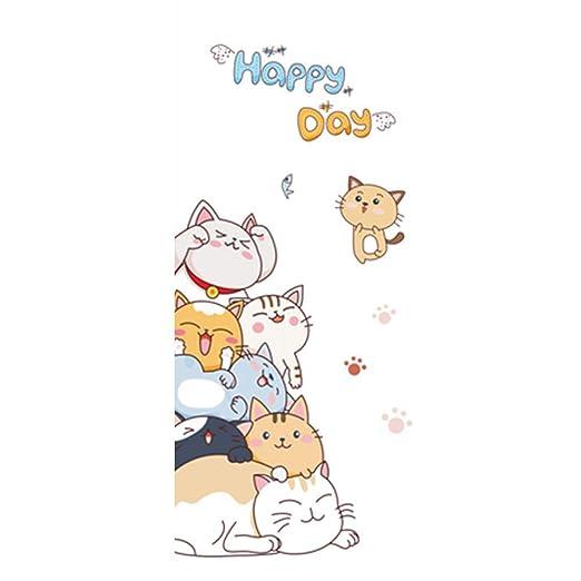 CSZMTX Cartel De Puerta 3D De Dibujos Animados Gato Perro ...