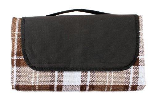 2 Pcs Bulk Wholesale Lot - Water Resistant Outdoor Soft Acrylic Nylon Throw Picnic Camping Beach Stadium Blanket - Brown
