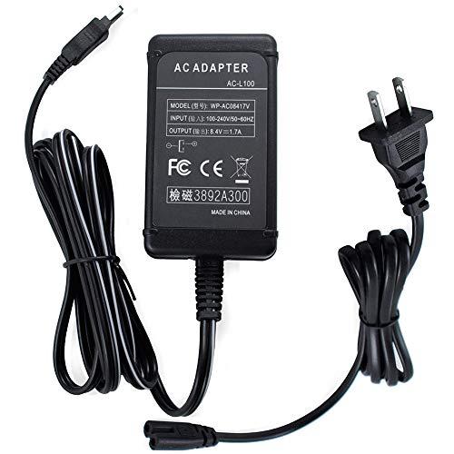 Gonine AC-L100 AC Power Adapter Supply, AC L100 Charger Kit Replacement Sony AC-L100 AC-L15 AC-L10 AC-15A AC-L10A for Handycam DCR-TRV MVC-FD DSC-S30 DSC-F707 DSC-F717 DSC-F828 Cameras. ()