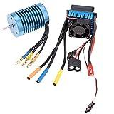 Fastwin 36504370KV 4p Sensorlessブラシレスモーター45AブラシレスESCElectric速度コントローラfor 1/ 10RCオフロード車( 36504370KV + 45a )