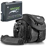 "Kit Mantona System Tasche mit Patona Premium Akku EVO II für Nikon EN-EL14 EN-EL14a - Intelligentes Akkusystem - (echte 1200mAh) ""neueste Generation"""