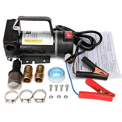 12V Portable Fuel Pump Oil Transfer Pump Self Priming 45L/Min 200W Black - Electrical Gadgets & Tools Electrical Pump & Valve -  1 x Gas Detector 1 x Manual 1 x screw 1 x rawlplug -