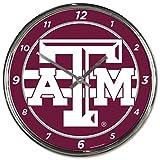 NCAA Texas A&M Aggies WinCraft Official Chrome Clock