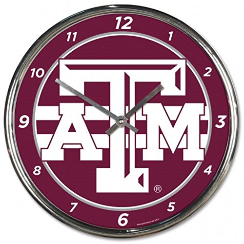NCAA Texas A&M Aggies WinCraft Official Chrome Clock