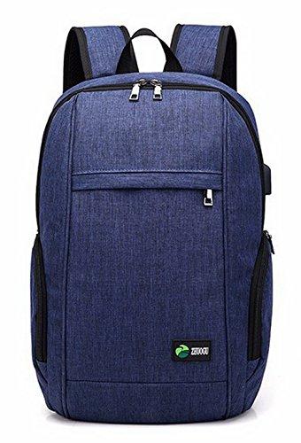 Zippers Dacron Bleu Bleu bandoulière École Femme dos Sacs à AgooLar Daypack à Sacs qZx5E1w
