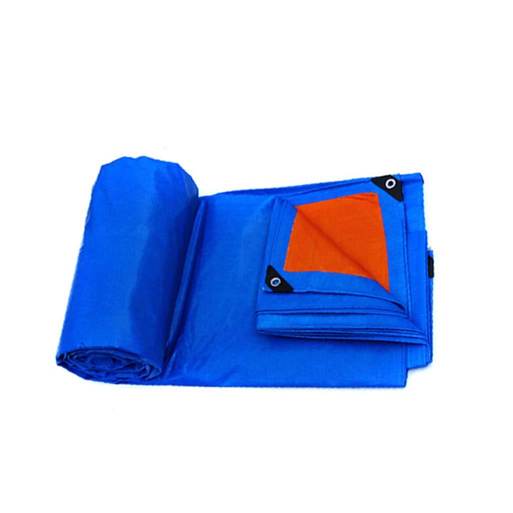 ターポリン、ダブルサイド防水、車のトラックのための屋外の防雨日焼け止めサンシェード、青+オレンジ (サイズ さいず : 8m*12m) 8m*12m  B07J5KT66M