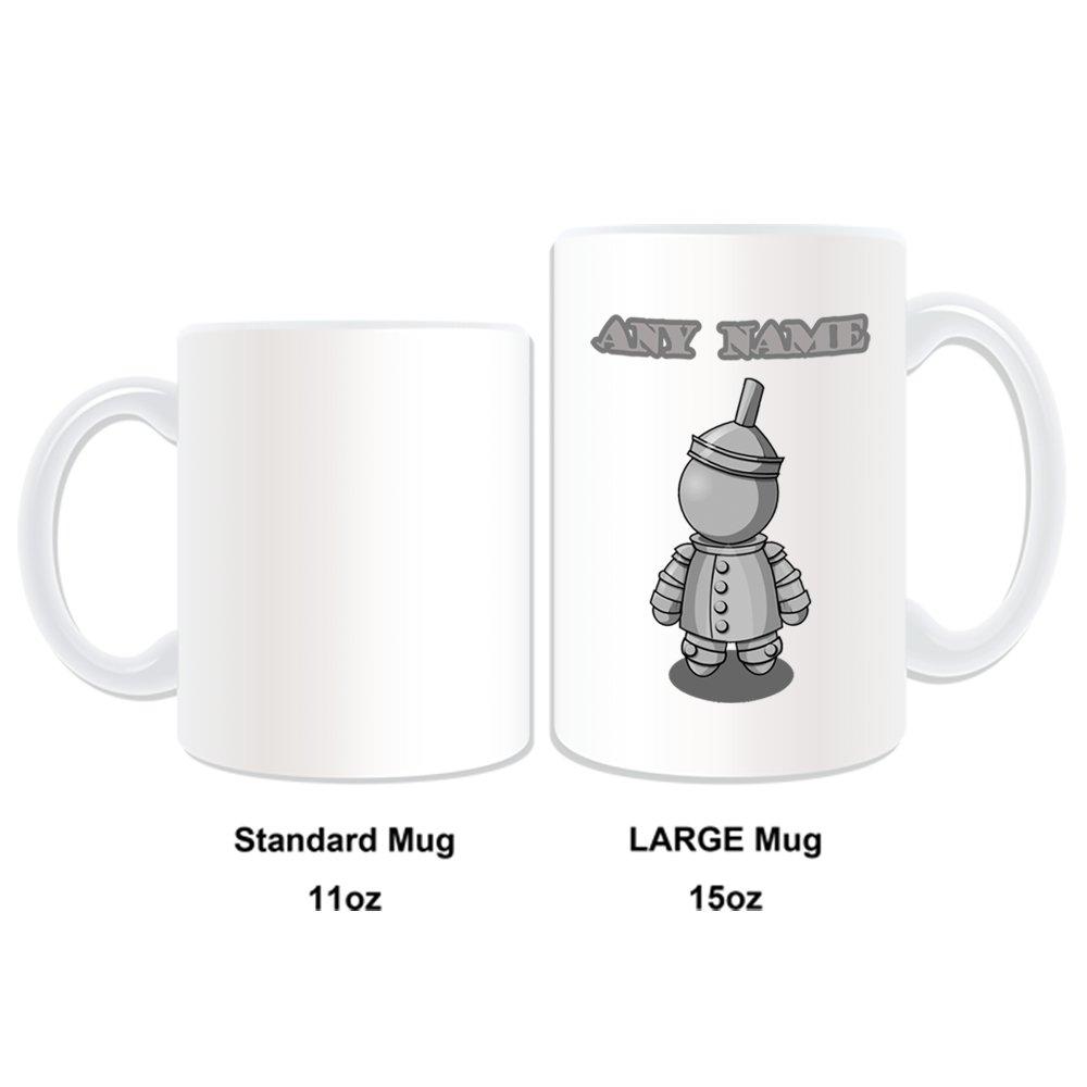 De regalo con mensaje personalizado - taza tamaño grande Hombre de Hojalata (molde para hacer una diseño de, blanco) - nombre personalizable para/de mensaje ...