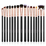 BESTOPE Eye Makeup Brush Set, 16 Pieces Professional Cosmetics Makeup Brushes, Eye Shadow, Concealer, Eyebrow, Foundation, Powder Liquid Cream Blending Make Up Brushes with Premium Wooden Handles