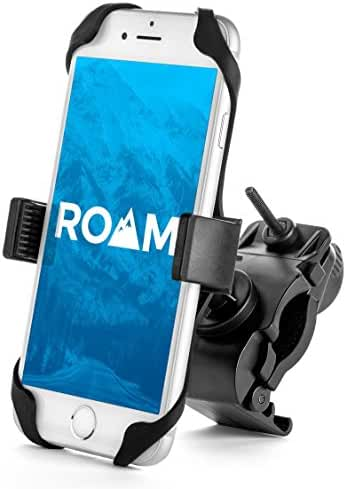 Roam Bike Phone Mount, Universal - for Motorcycle - Bike Handlebars, Adjustable, Fits iPhone 6s | 6s Plus, iPhone 7 | 7 Plus, Galaxy S7, S6, S5, Holds Phones Up To 3.5