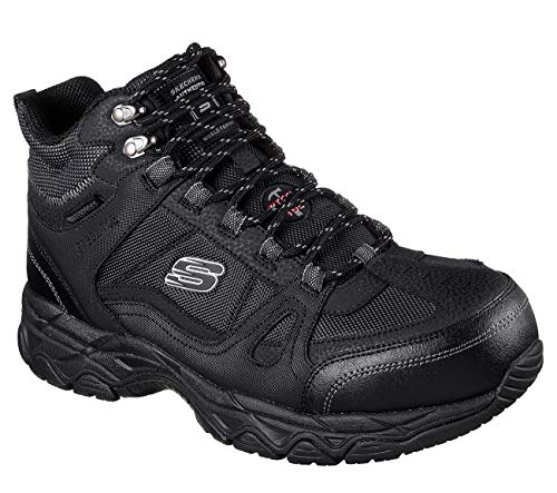 Skechers Work Men's Ledom Steel Toe WP Black 10.5 D ()