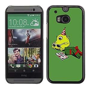 PC/Aluminum Funda Carcasa protectora para HTC One M8 Green Christmas Present Cute Birthday / JUSTGO PHONE PROTECTOR