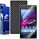 ArmorSuit MilitaryShield Sony Xperia Z1 Screen Protector + Black Carbon Fiber Full Body Skin / Front Anti-Bubble HD Shield w/ Lifetime Replacements
