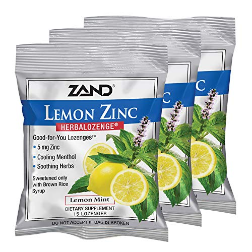 Zand Herbalozenge, Lemon Zinc, 15 Count (Pack of 3) ()
