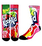 crazy color socks - Zmart Men's Crazy Fun Color Athletic Sports Mismatch Crew Cotton Socks,Kool Aid,Socks size 9-13