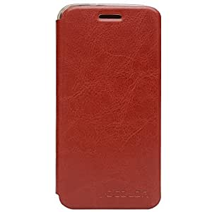Voltear la cubierta del caso DOOGEE F3 / F3 Pro caso de la cubierta + funda de silicona,Color Marrón